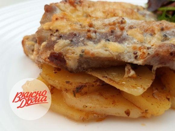 Запеченный картофель с мясом