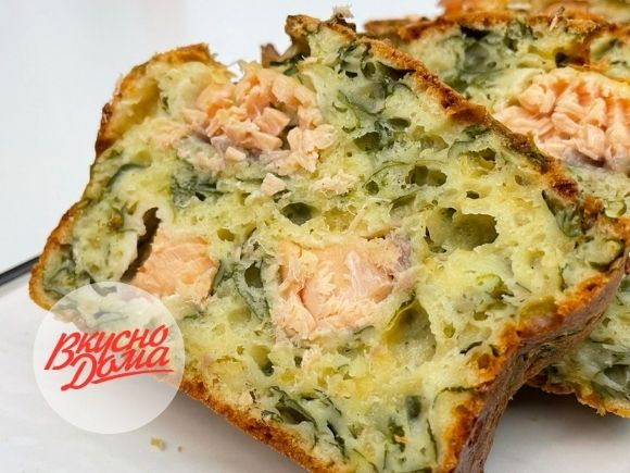 Закусочный кекс с рыбой - рыбный пирог